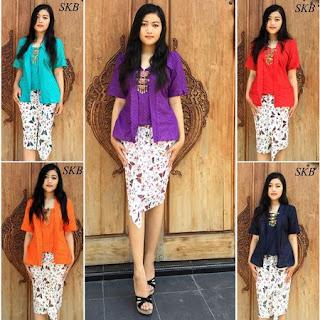 model rok batik pendek untuk wanita gemuk