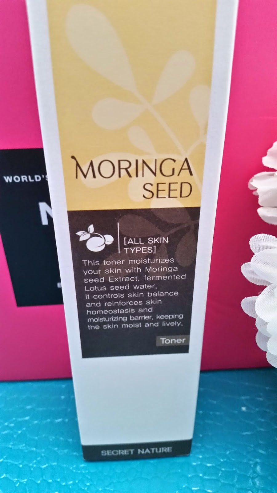 Secret Nature Moringa Seed Toner front packaging