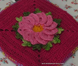Flor Begônia em Crochê