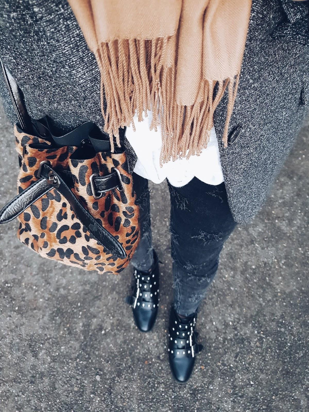 Leopard print handbag czyli casual z detalem panterki