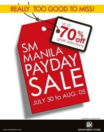 9ca25ca5014909 SM Manila Department Store Payday SALE July 30 - Aug 5