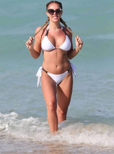 Aisleyne Horgan Wallace in White Bikini in Miami