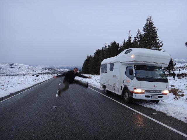 Viajando de motorhome no inverno e na neve