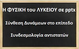 Μαθήματα ΦΥΣΙΚΗΣ Α΄ και Β΄ Λυκ, σε pptx.