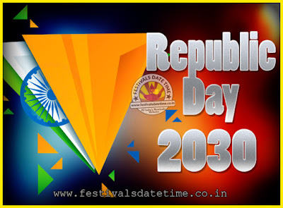 2030 Republic Day of India Date, 2030 Republic Day Calendar