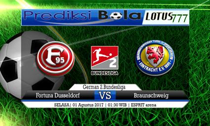 Prediksi Pertandingan antara Fortuna Dusseldorf vs Braunschweig Tanggal 01 Agustus 2017