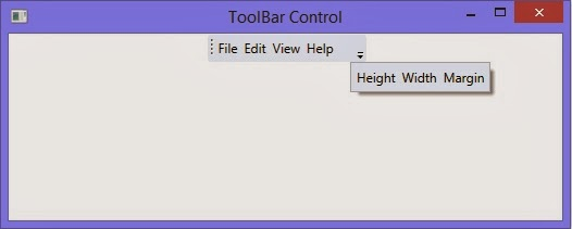 How to use ToolBar control in WPF XAML