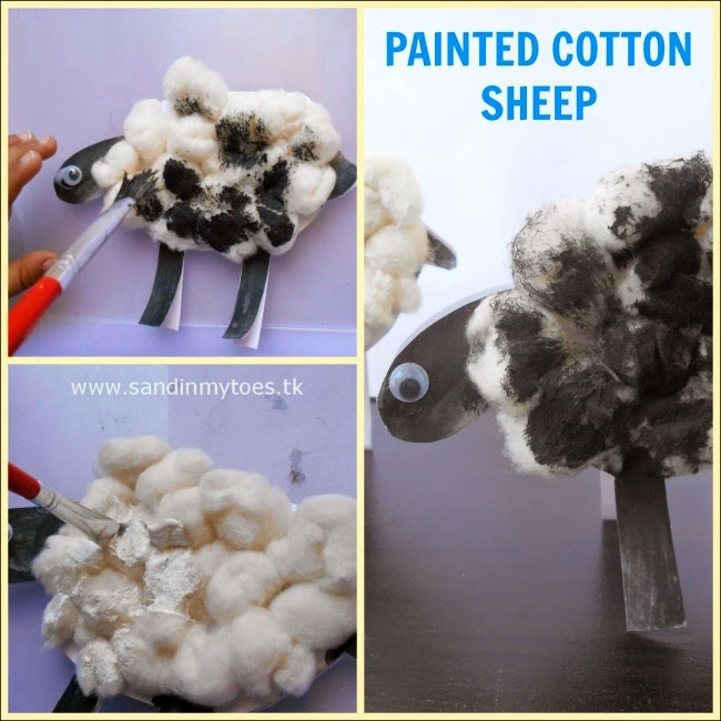 Painted Cotton Sheep craft