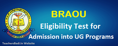 BRAOU Eligibility Test,BA BCom BSc Degree admissions,Degree Admissions 2017