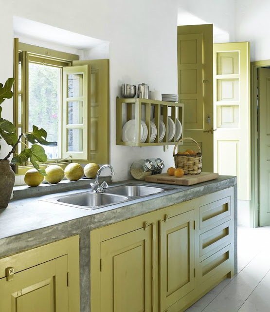 Rama verde fereastra bucătărie v