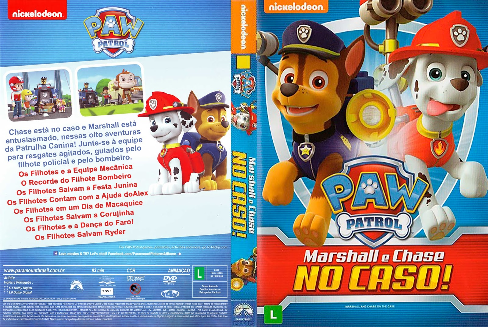 Download Patrulha Canina Marshall e Chase no Caso! DVD-R