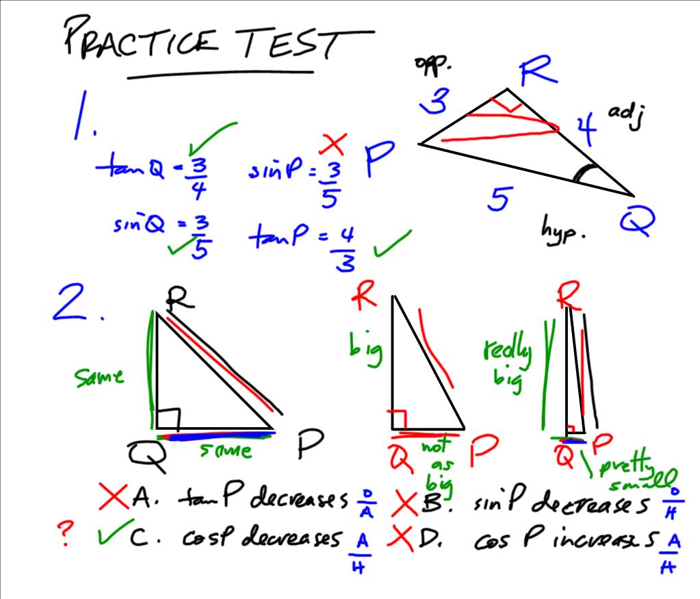 Grade 10 Applied PreCalculus Cheetah: Trigonometry Test Review