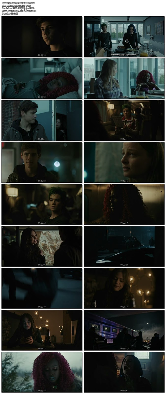 Titans S01 Episode 08 720p HDTV 200MB ESub x265 HEVC , hollwood tv series Titans S01 Episode 08 720p hdtv tv show hevc x265 hdrip 200mb 250mb free download or watch online at world4ufree.vip