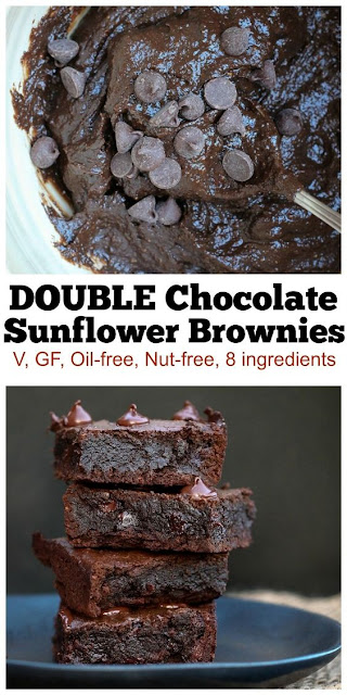 Vegan Double Chocolate Sunflower Brownies