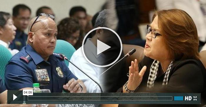 WATCH: PNP Chief Bato Dela Rosa Napikon Kay De Lima Sa Senate Hearing