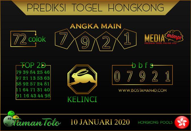 Prediksi Togel HONGKONG TAMAN TOTO 10 JANUARI 2020