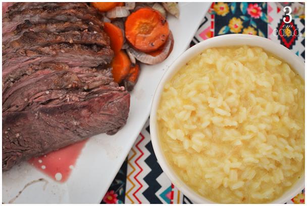 risoto e carne