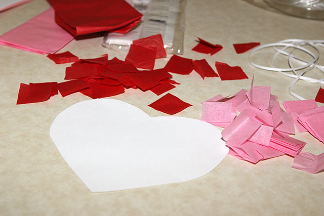 Tissue Paper Hearts | Sweet Southern Blue