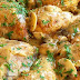Pollo con salsa cremosa de champiñones y hierbas provenzales