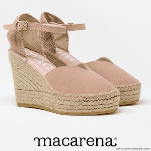 Queen Letizia wore Macarena Espadrille Wedges