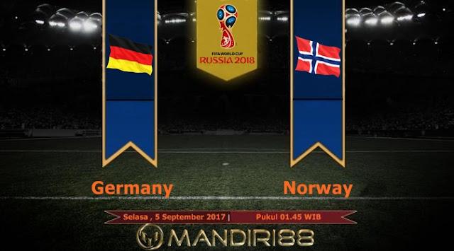 Jerman akan menjamu Norwegia pada kualifikasi Piala Dunia  Berita Terhangat Prediksi Bola : Germany Vs Norway , Selasa 05 September 2017 Pukul 01.45 WIB