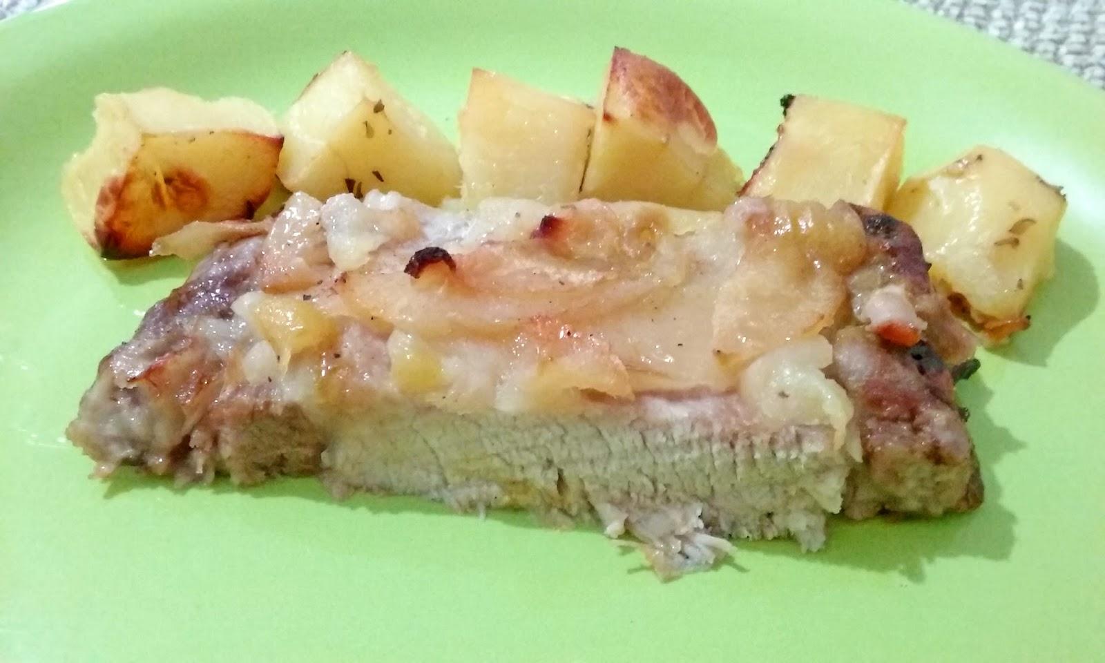 Iva a cocinar cerdo al horno con manzana for Cocinar carrilleras de cerdo