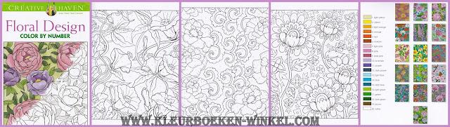 kleurboek. kleuren op nummer floral Design