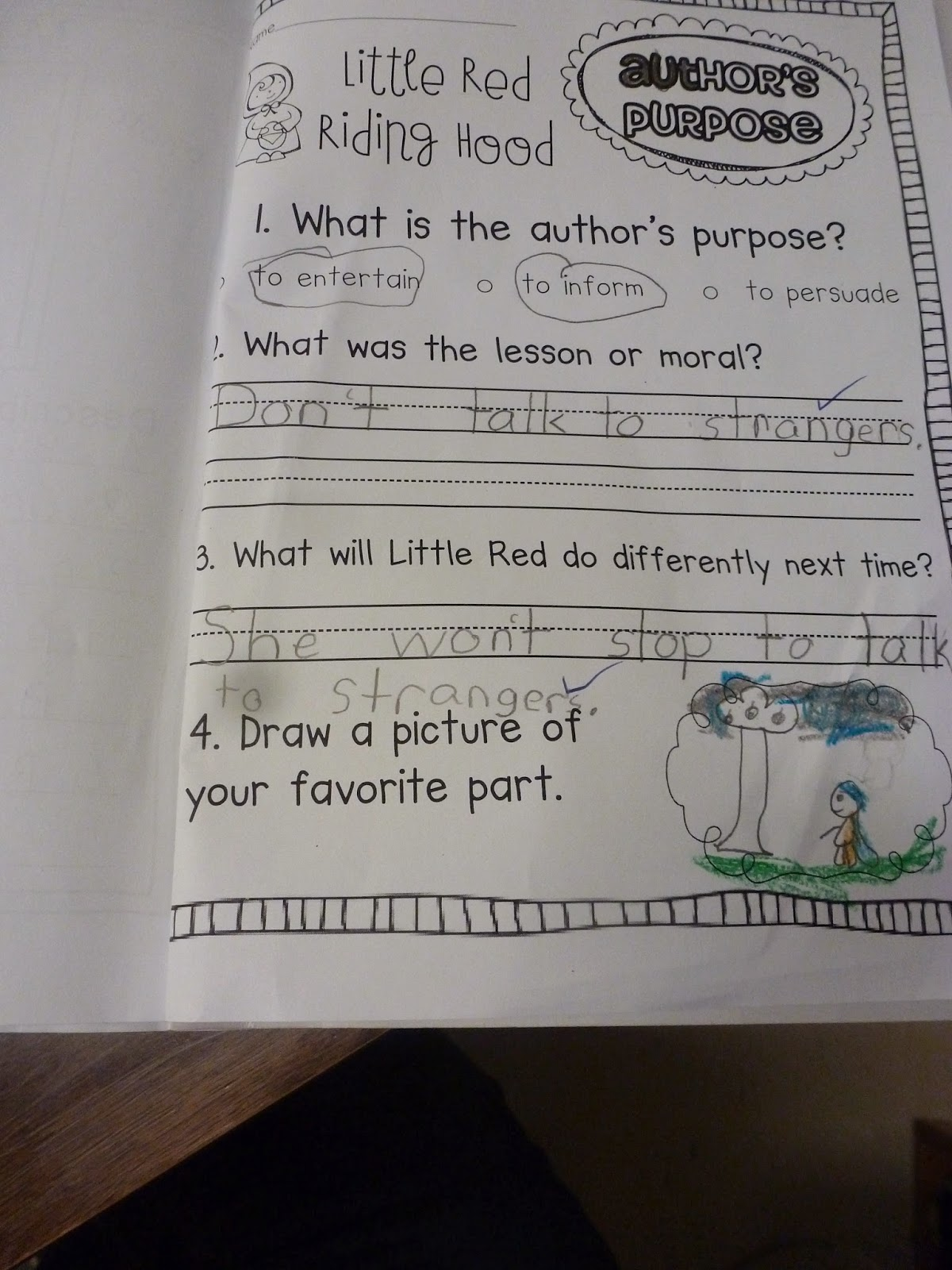 Miss Vanchu S Classroom Blog Little Red Riding Hood