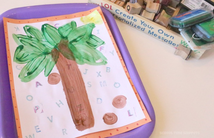 alphabet craft for storybook, chicka chicka boom boom