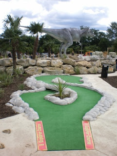 Dinosaur Safari Adventure Golf Course at the A1 Driving Range in Arkley, Hertfordshire