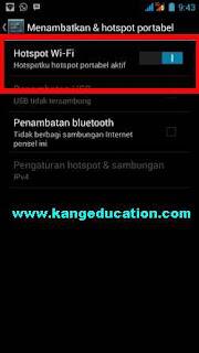 cara buat dan ubah password wifi hotspot android