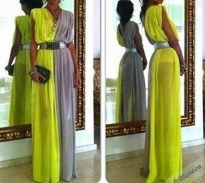 elegante vestido tunica griega