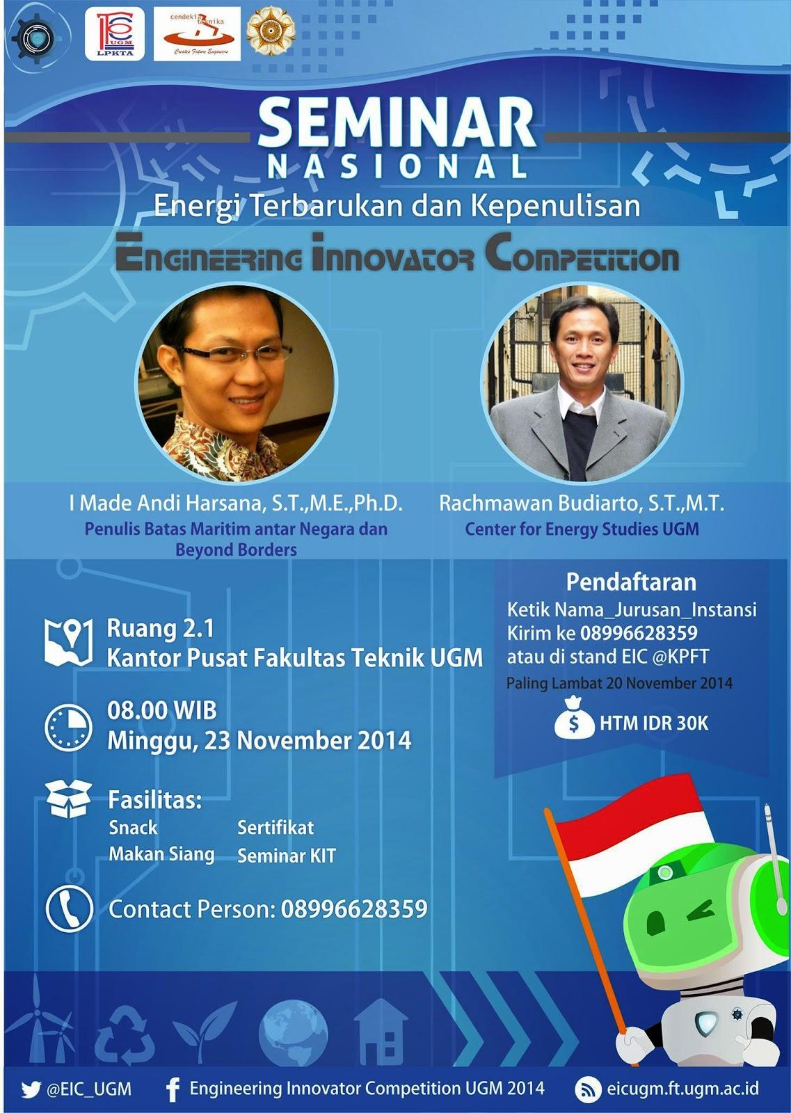 seminar nasional energi terbarukan dan kepenulisan info