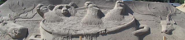 hiekkaveistos Kalevala
