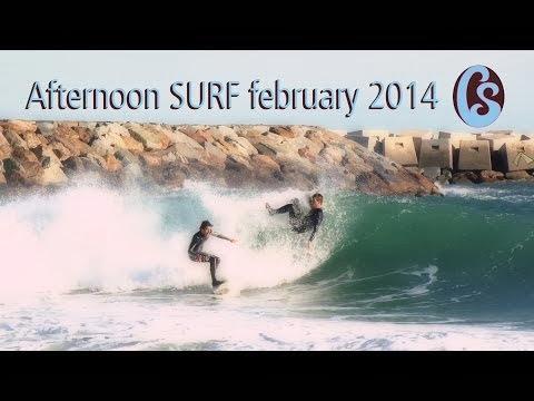 Primer swell febrero 2014 en Barcelona