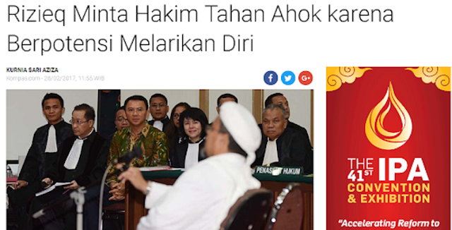 Batalin Pulang Lagi Rizieq Malah Sindir Tajam Ahok Soal Pengajuan PK, Kasihan Deh Penjelasan Mahkamah Agung Menohok Banget Begini....
