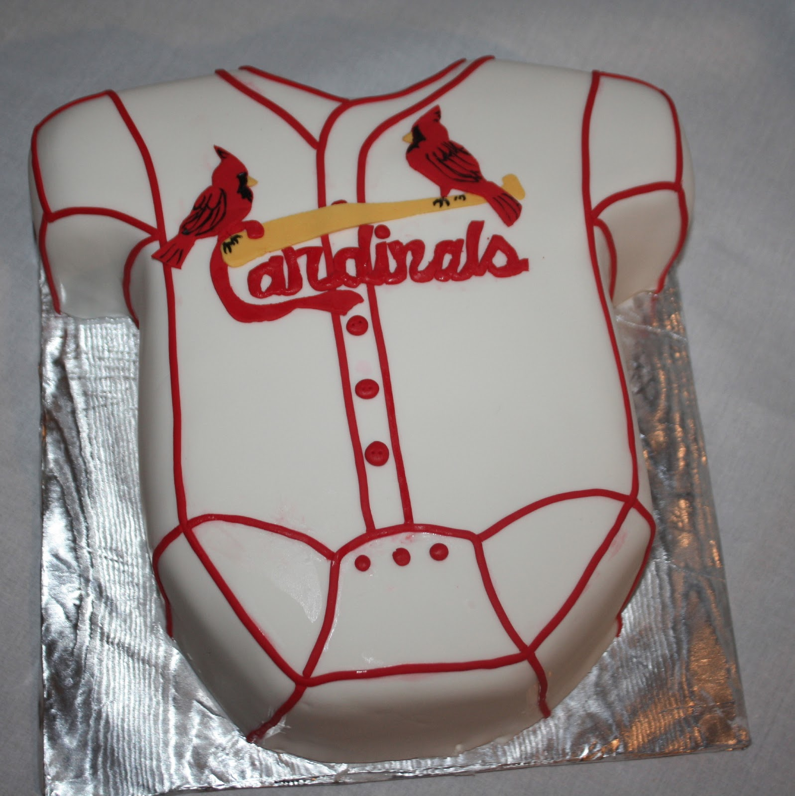 Hock Cakes Llc St Louis Cardinals Onesie Baby Shower Cake