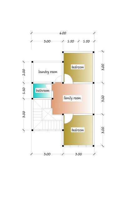 2nd floor plan of beautiful house plan 14