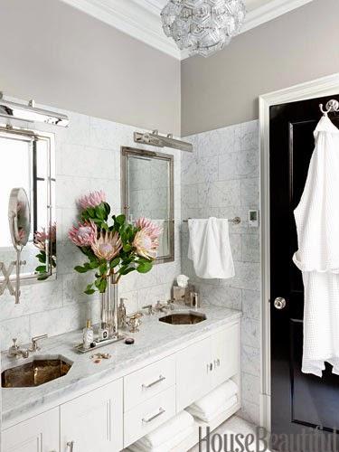 white marble bathroom