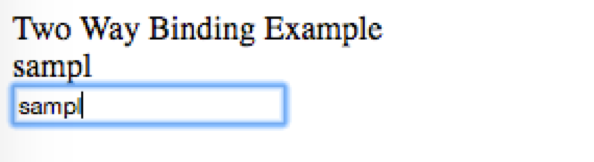 Two way data binding using ng-model 1