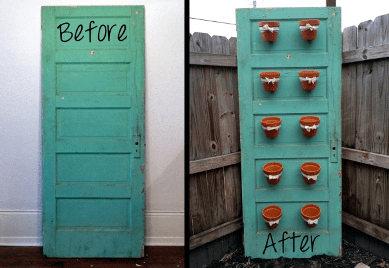 15 Brilliant DIY Ways To Upcycle Your Door - Planter