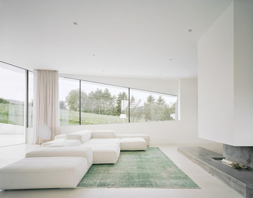 Living room in Villa Freundorf by Project A01 Architects