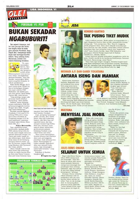 LIGA INDONESIA PERSIKAB VS PSM MAKASSAR
