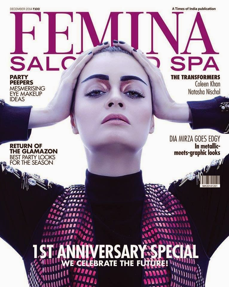 Dia Mirza Photo Shoot Session for Femina Salon and SPA December 2014