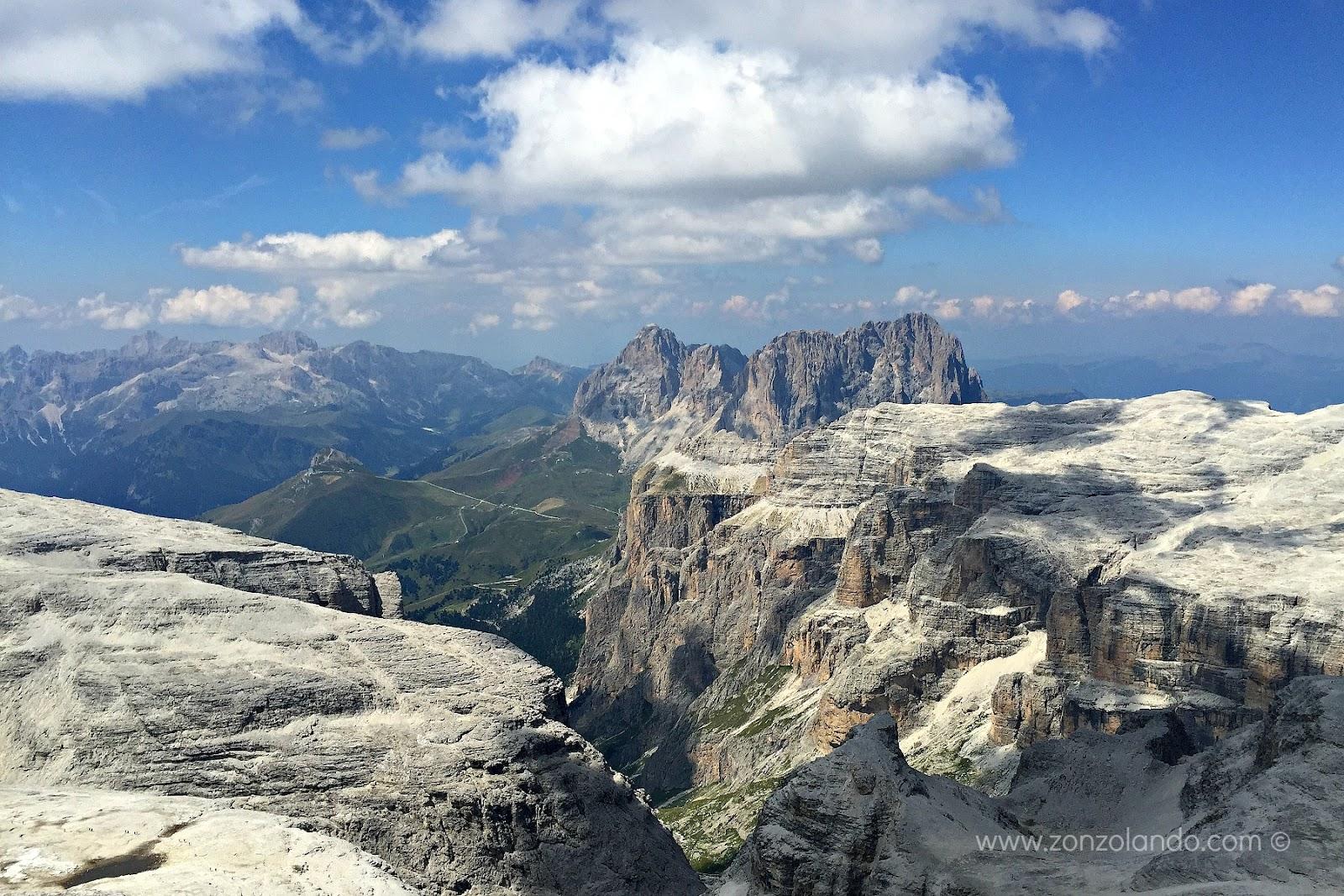 Forcella Pordoi e Piz Boè in Val di Fassa come arrivare itinerari percorsi consigli viaggio trip advices