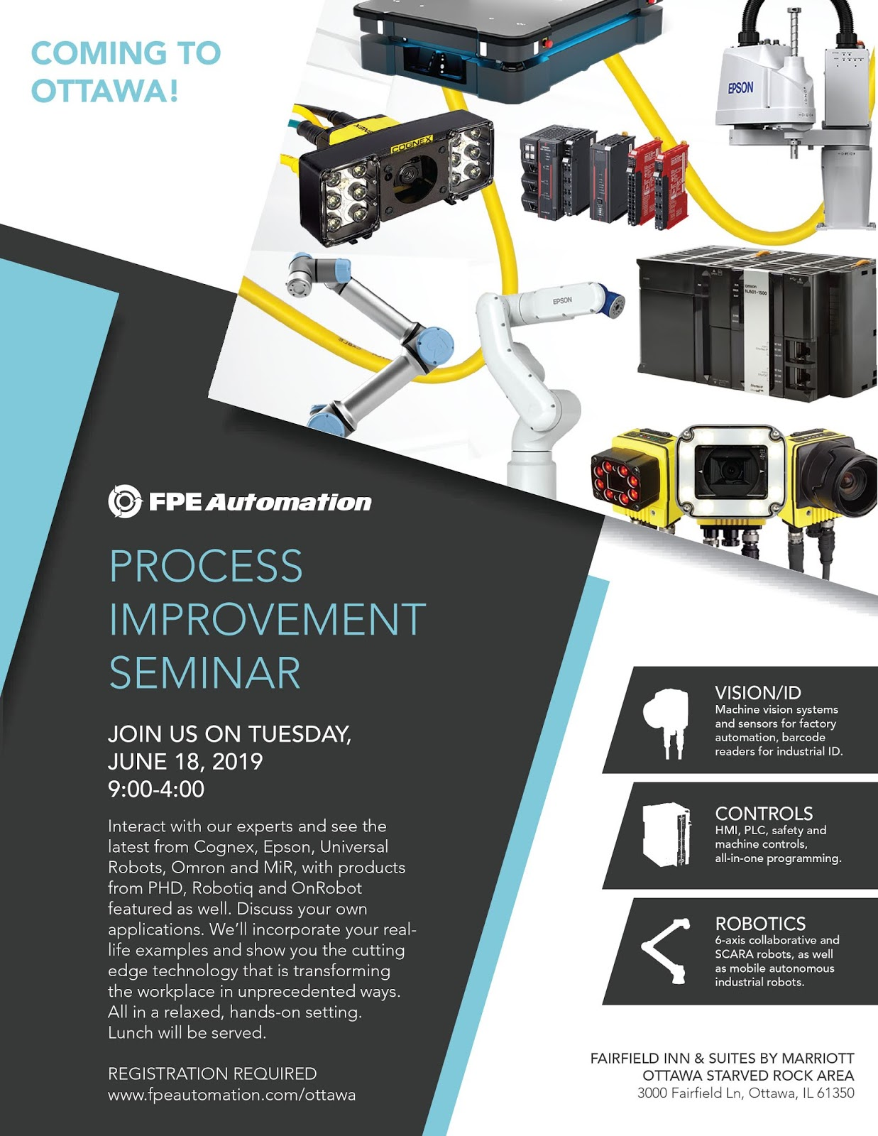 Industrial Automation, Controls, Vision/ID and Robotics Seminar in