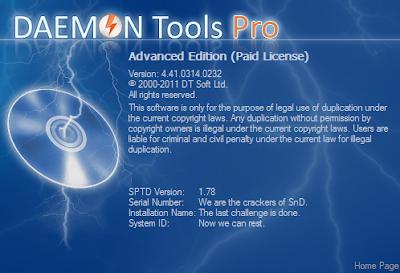 Daemon tools pro 4.41