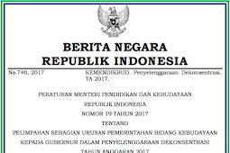 Permendikbud No 19 [Tahun] 2017 [Tahun] 2017