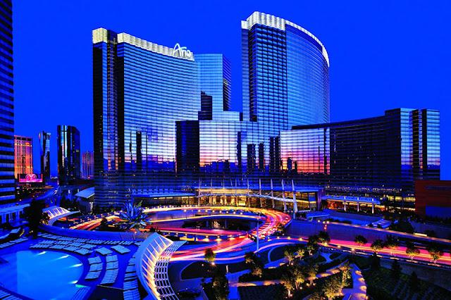 Lazer no hotel cassino Aria em Las Vegas