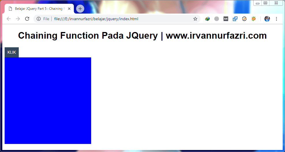 Chaining Function di jQuery - #IRVANGEN